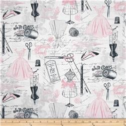 Timeless Treasures April In Paris Dress Making Motifs Pink