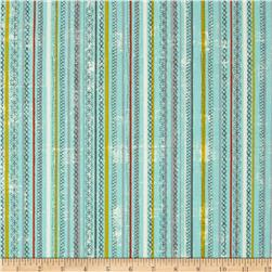 Moda Garden Project Stitched Stripes Sky