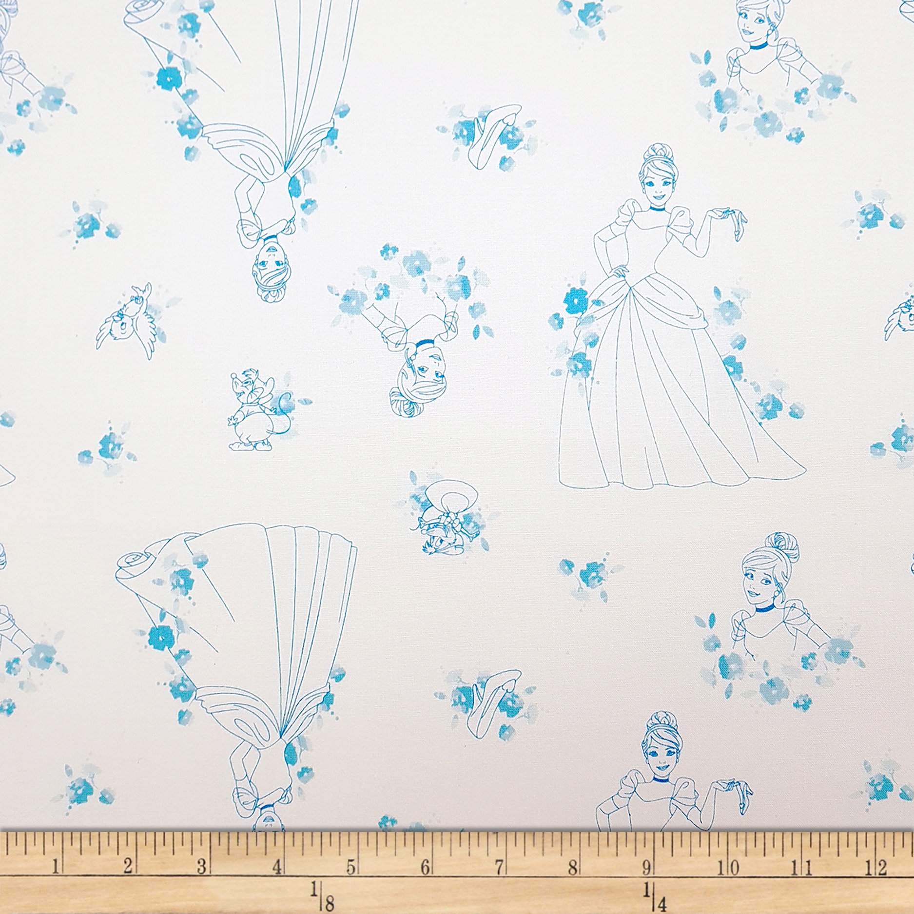 Disney Forever Princess Cinderella Toile in Blue