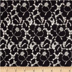 Country Lace Non-Stretch Viola Black