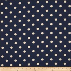 Premier Prints Ikat Dots Blue Fabric