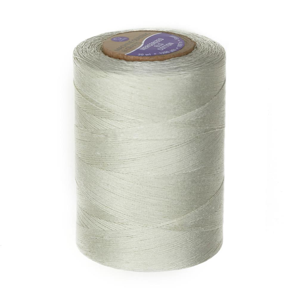 Cotton Machine Quilting Thread 1200 YD Silver