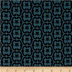 Winterthur Muserum Floral Damask Blue