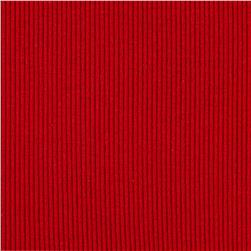 2x1 Cotton Rib Knit Red