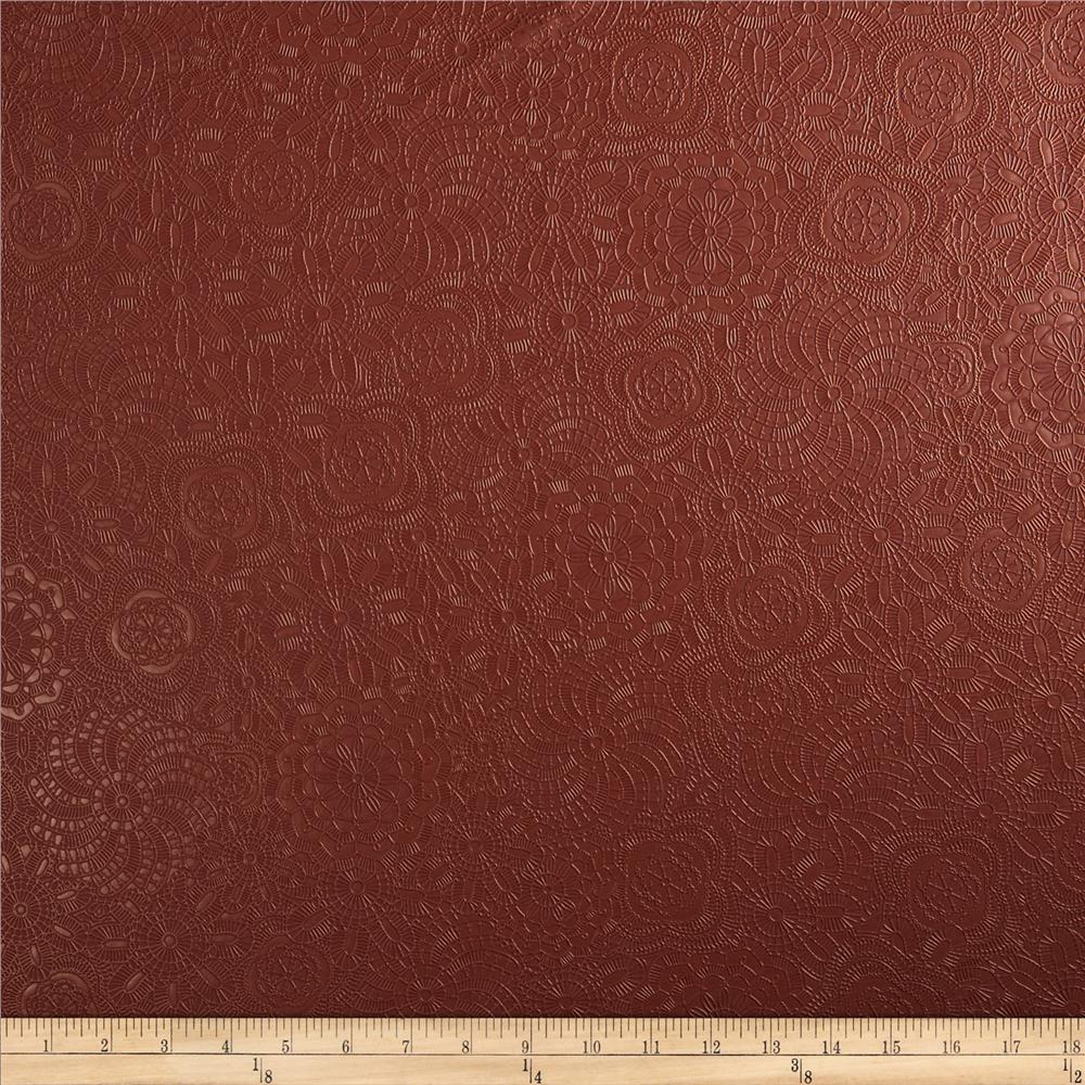 Ramtex Faux Leather Retro Floral Henna