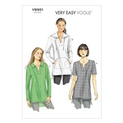 Vogue Misses' Tunic Pattern V8951 Size 0Y0