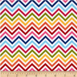 Remix Flannel Chevron Rainbow Fabric