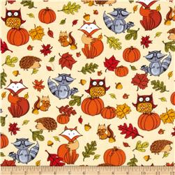 Timeless Treasures Pumpkin Patch Flannel Pumpkins & Critters