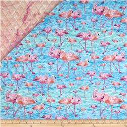 Birds of A Feather Double Sided Quilted Flamigos Pink