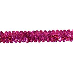 Stretch 7/8'' Holographic Sequin Trim Fuchsia