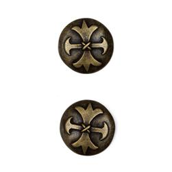 "Metal Button 7/8"" Cumbria Antique Brass"