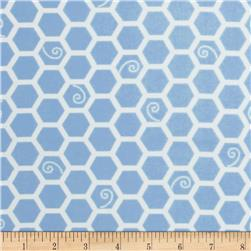 Kimberbell Little One Flannel Too! Flannel Honeycomb Blue