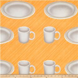 Pie a la Mode Plates and Cups Yellow