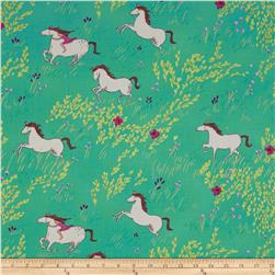 Michael Miller Wee Wander Summer Ride Seafoam Fabric