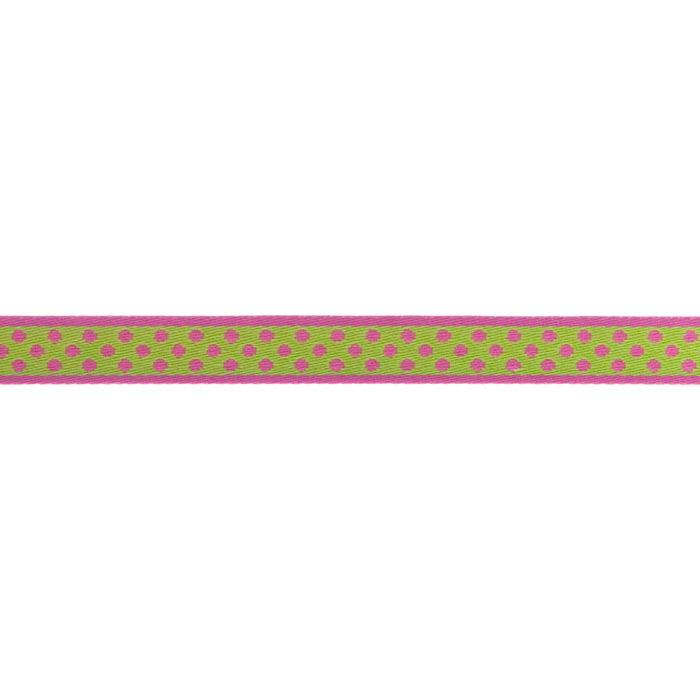 5/8'' Ribbon Polka Dot Hot Pink/Lime