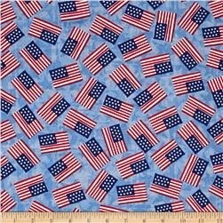 USA Flags Light Denim