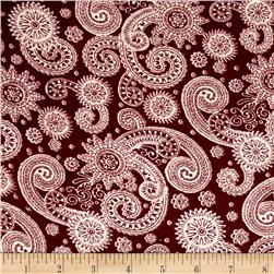 Corduroy Aztec Flourish Red