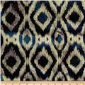 Indian Batik Flannel Ikat Navy/Yellow