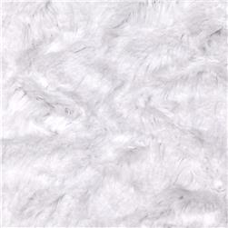 Minky Crushed Soft Cuddle Snow Fabric