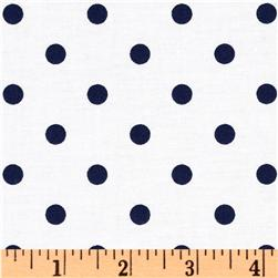 Classic Dots & Stripes Medium Dots White/Navy
