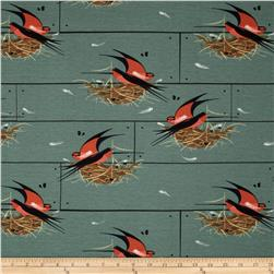 Birch Organic Charley Harper Nurture Knit Barn Swallow 42'' Wide