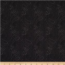 Essentials 108'' Wide Quilt Backing Paisley Black Fabric