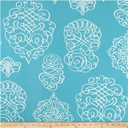 P Kaufmann Indoor/Outdoor Blue Print Turquoise