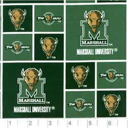 Collegiate Cotton Broadcloth Marshall University Thundering Herds