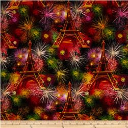 Timeless Treasures Paris Fireworks Multi