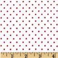 Cuddle Me Basics Flannel Small Dot Red