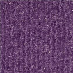 Distressed Heather Pique Knit Purple
