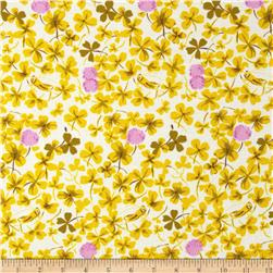 Heather Ross Briar Rose Cricket Clover Lilac/Gold
