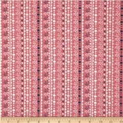 Fabric Freedom Quirky Floral Quirky Stripe Pink