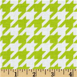 Riley Blake Medium Houndstooth Lime Fabric