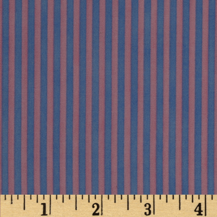 Graphix Stripes Pink Periwinkle Fabric