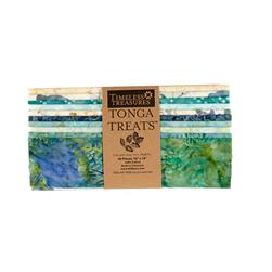 "Timeless Treasures Tonga Batik Surf 10"" Squares Half Pack"