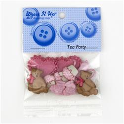 Dress It Up Embellishment Buttons  Tea Party