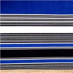 Fashion Jersey Knit Stripe Royal