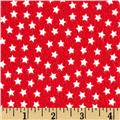 Riley Blake Lucky Star Flannel Star Red