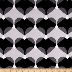 ITY Knit Heart Print Black/Grey