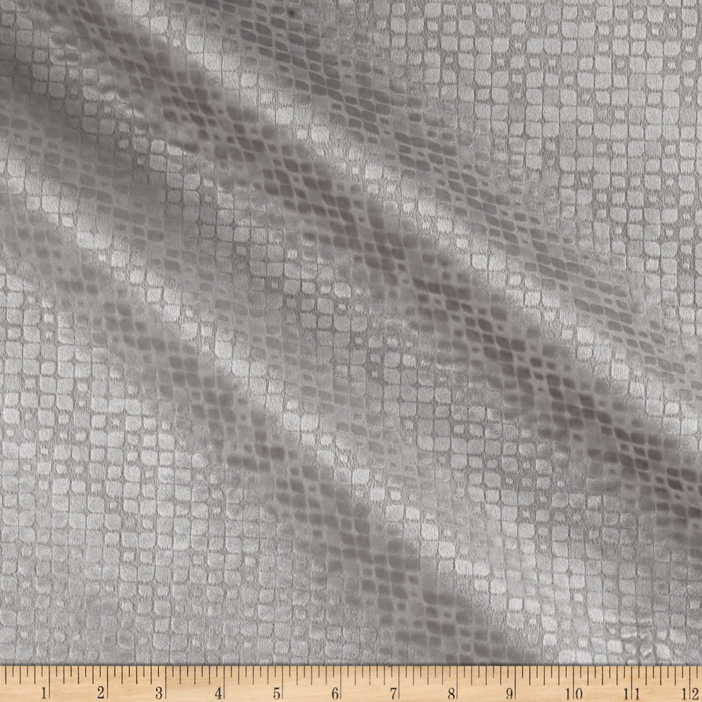 Image of World Wide Baxter Textured Velvet Silver Fabric