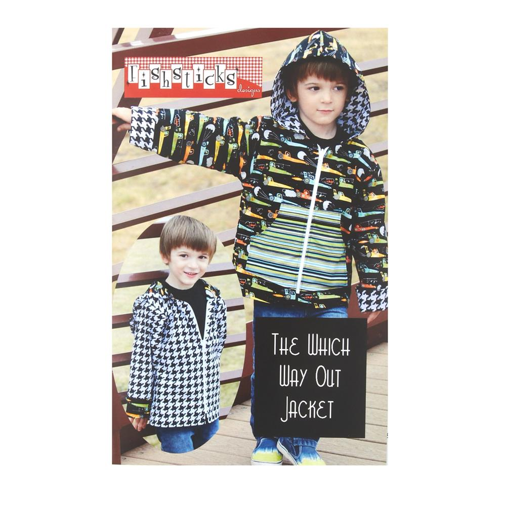 Fishsticks Which Way Out Jacket 12M-5T Pattern