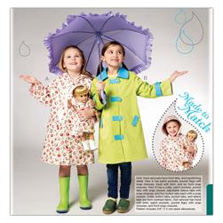 Kwik Sew Children's and Doll Raincoats Pattern