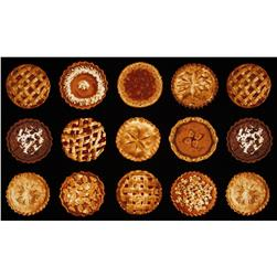 Bake Sale Harvest Pie Panel Black