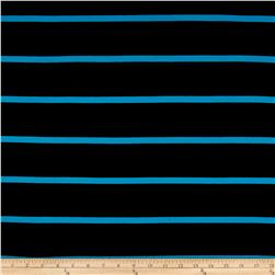 Yarn Dye Jersey Knit Stripe Laguna Blue/Black