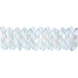 Team Spirit 1.25'' #66 Sequin Trim White Iris