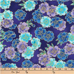 Kaufman Imperial Collection Metallic Flower Bunches Jewel