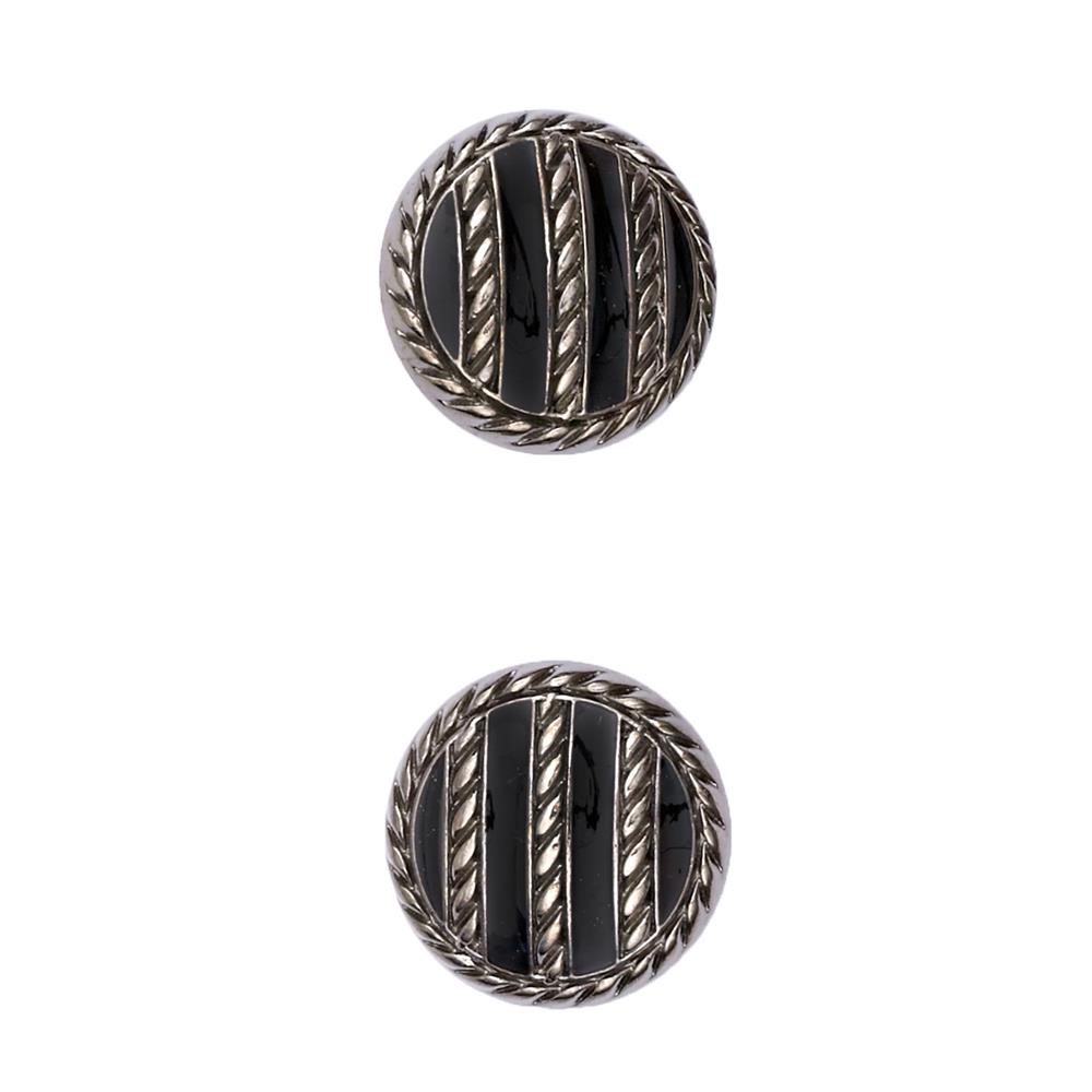 "Fashion Button 3/4"" Tory Silver"
