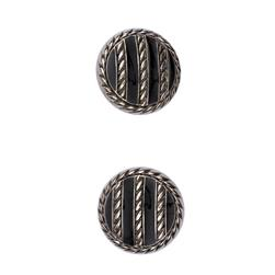 Fashion Button 3/4'' Tory Silver