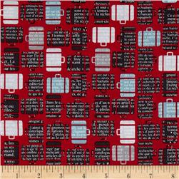 Riley Blake Detour Baggage Claim Red Fabric